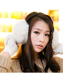 Affinity White Winter Warmth Design Imitate Rabbit Fur Fashion earmuffs