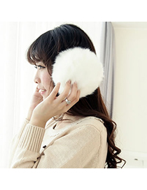 Antique White Protect Ears Design Plush Fashion earmuffs