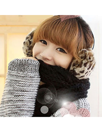 Celebrity Leopard Winter Warmth Sexy Style Plush Fashion earmuffs