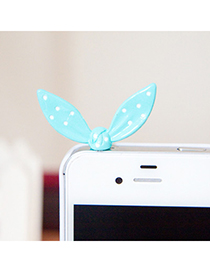 Japanese light blue Rabbit ears design alloy Mobile phone products