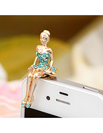 Collar sea blue blink beauty design alloy Mobile phone products