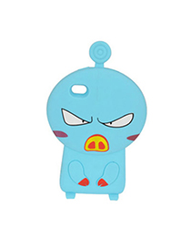 Rachel Blue Angry Pig Design Silicon Iphone 4 4s