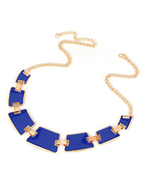 Juniors Blue Geometry Matching Alloy Korean Necklaces