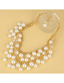 Beauteous White Pearl Double Layer