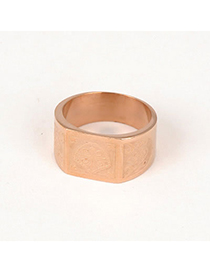Japanese Rose Gold Color Cross Design