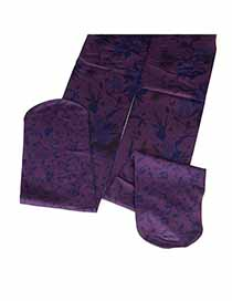 Infinity Purple Gradient Tattoo Design Velvet Fashion Stockings