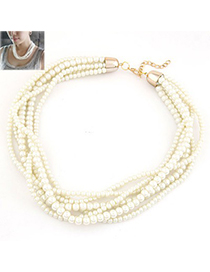 Ethnic White Multilayer Pearl Simple Design