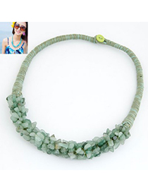 Genuine Light Blue Bohemian Style Personality All-Match Design Alloy Chokers