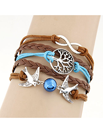Energie coffee birds decorated simple design alloy Korean Fashion Bracelet