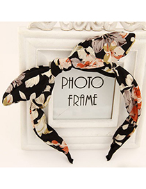 Classic multicolor flower pattern bowknot design fabric Hair band hair hoop