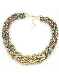 Plussize multicolor beads weave simple design