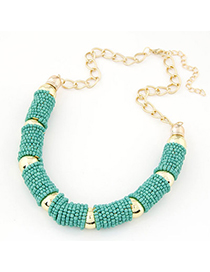 Golf green beads decorated U-shape design alloy Chains