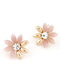 Lariat Pink Diamond Decorated Flower Design