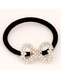Mustard Gold Color 8-shape Decorated Simple Design Alloy Hair band hair hoop