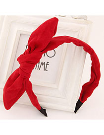 Promo Red Pure Color Bowknot Shape Simple Design Fabric Hair band hair hoop