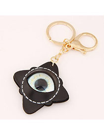 Military Black Eye Decorated Rhombus Shape Design Alloy Fashion Keychain