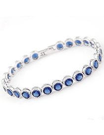 Pendants Blue Diamond Decorated Simple Design Zircon Fashion Bracelets