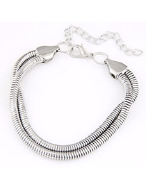 2012 Silver Color Metal Chain Simple Design Alloy Korean Fashion Bracelet
