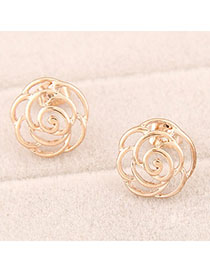 Elegant Champagne Waterdrop Shape Decorated Earrings