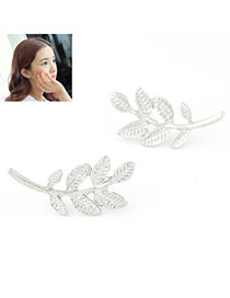 Denim Silver Color Leaf Shape Decorated Simple Design