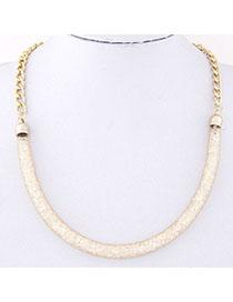 Decorative Gold Color Chain Shape Decorated Simple Design Alloy Korean Necklaces