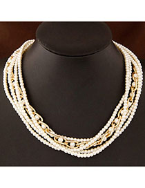 Cranes White Pearl Decorated Multilayer Design