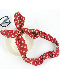 hot Red Dot Pattern Decorated Bowkot Design