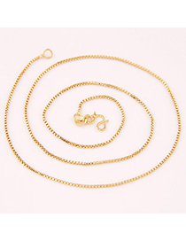 Unique Gold Color Box Earners Chain Decorated Simple Design Cuprum Chains