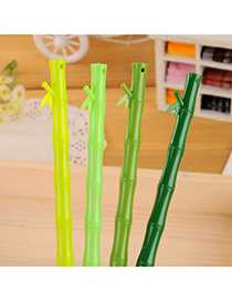 Infinity Color Will Be Random Bamboo Shape Simple Design Plastic Writing Pens
