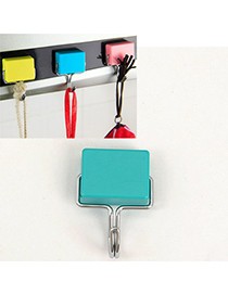 Ferret Green Simple Magnetic Non-Trace Hook Plastic Household goods