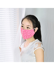 Traditiona plum red dot pattern simple design cotton Face Mask