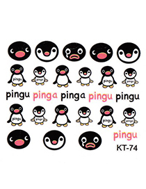 Gothic  3D Cartoon Penguin Design Stickers Nails