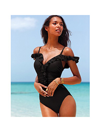Jockey Black Fashion Model Of Conjoined Hot Body Polyamide Fibre Monokini