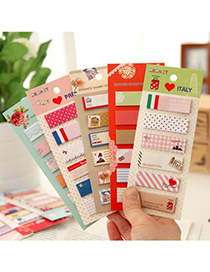 Printed Color Will Be Random creative pattern design Paper Stickers Tape