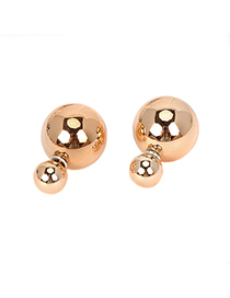 Unusual goldcolor pearldecoratedsimpledesign alloy Stud Earrings