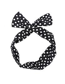 Promo black dot decorated simple design chiffon Hair band hair hoop
