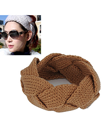 Players khaki twist weave simple design wool Hair band hair hoop