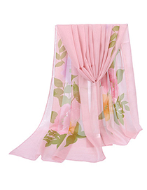 Graduated Pink Large Peony Pattern Simple Design