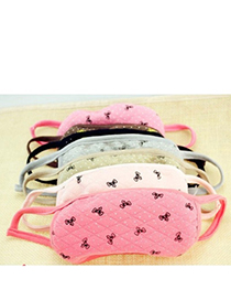 Choker Color Will Be Random Bowknot Pattern Simple Design Cotton Face Mask