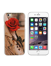 Luxurious Red Rose Pattern Decorated Simple Design-iphone 6