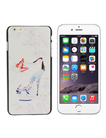 Steelers White High-heeled Shoes Butterfly Pattern Decorated Simple Design-iphone 6 Plus