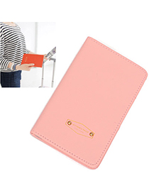 Sparking Pink Pure Color Simple Design Leather Household goods