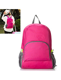 Charm Plum Red Multifunction Foldable Design Nylon Backpack