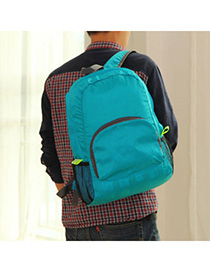 Circle Blue Multifunction Foldable Design Nylon Backpack Reviews