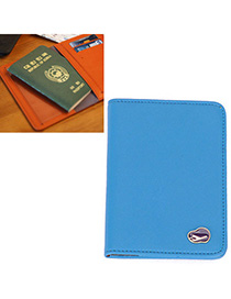 Western Blue Pure Color Simple Design Leather Other Creative Stationery