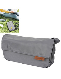 Mens Gray Pure Color Simple Design Nylon Messenger bags