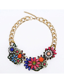 Elegant Black Metal Rivet Shape Decorated Pure Color Chocker