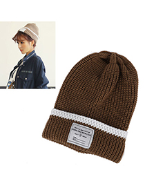 Funeral Camel Letter Pattern Simple Design Wool Knitting Wool Hats