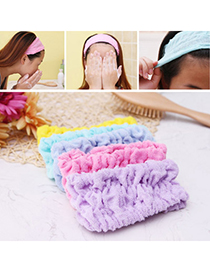 Facial Random Color Pure Color Simple Design Stretch Cotton Beauty tools