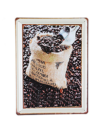 Down Coffee Coffee Bean Pattern Simple Design Iron Household goods